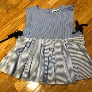 Zara blue/white striped top